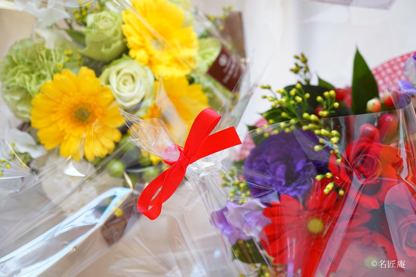 花束ふたつ