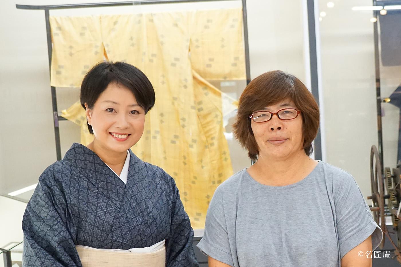 宮古織物事業共同組合 専務理事 神里 佐千子さんと