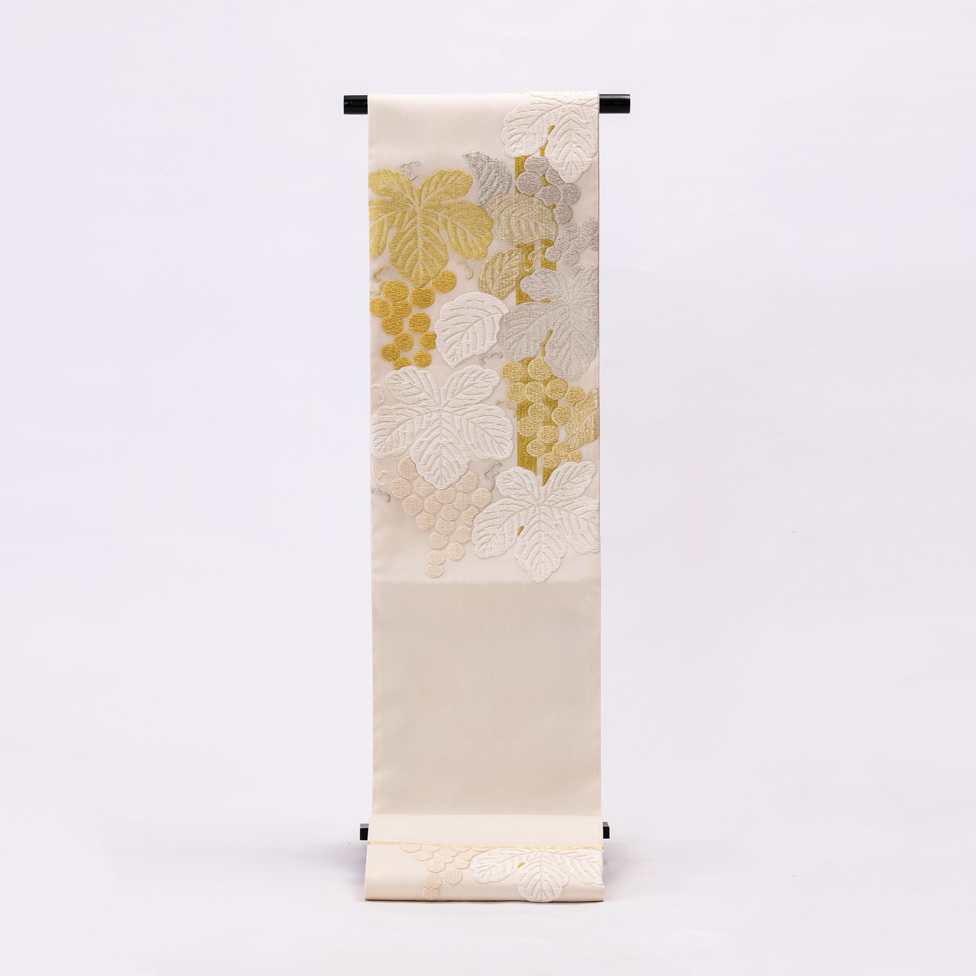 齋藤織物 袋帯 「大葡萄図」 江州だるま糸使用