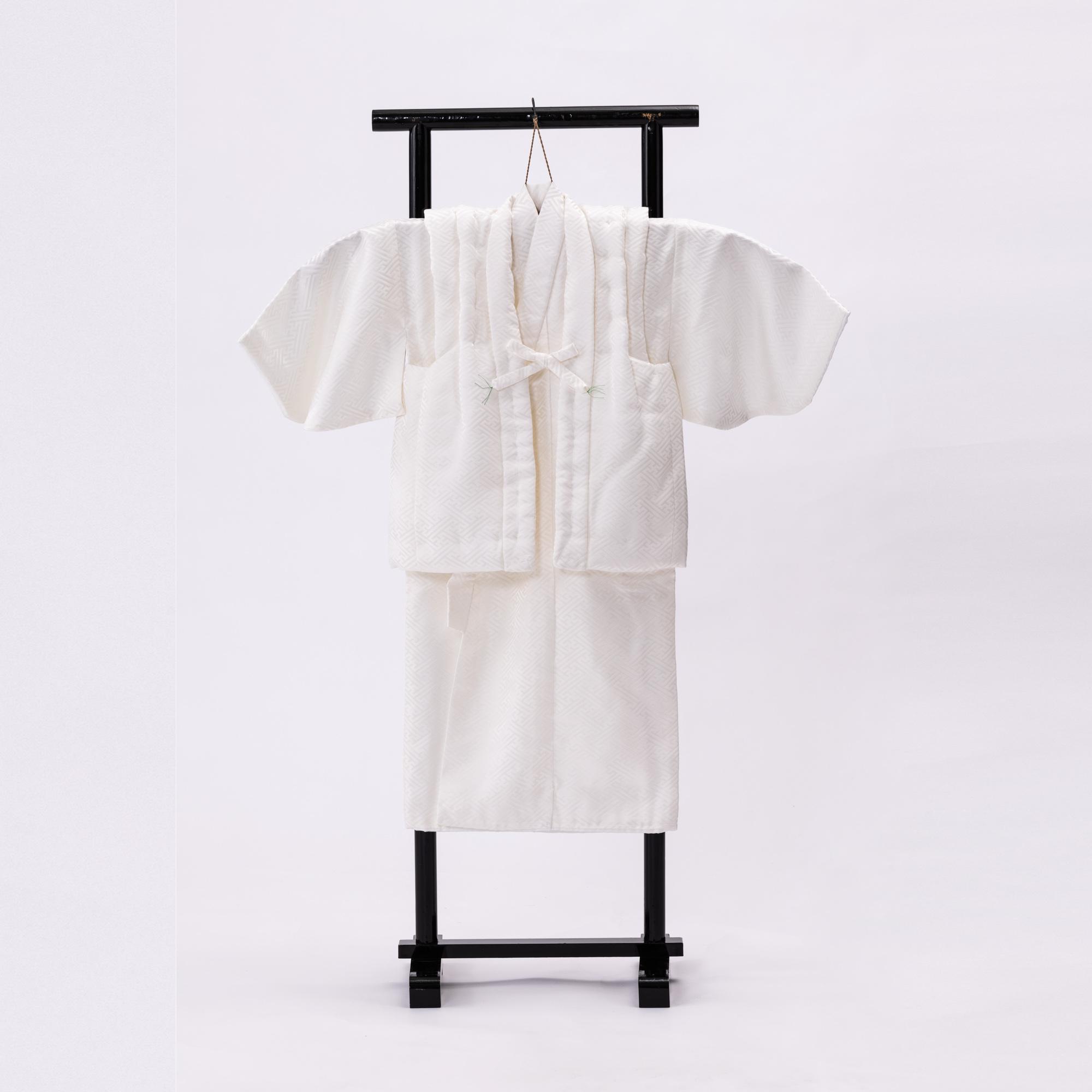 誕生祝い【正絹】白内着 でんちセット